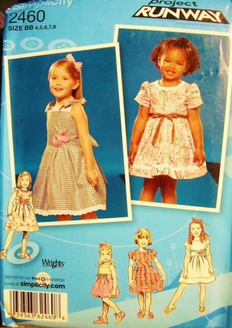 Girl Simplicity 2460 Pattern Project Runway Dress Variety UNCUT Size 4-5-6-7-8