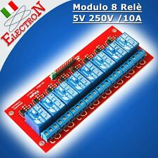 Modulo 8 Relè 5V 250V /10A Relay Module opto SHIELD Arduino Pic Atmega Raspberry