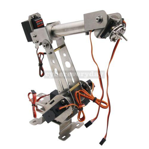 6-DOF Mechanical Robotic Arm Clamp w// Servos /& horn for Robot Smart Car Arduino