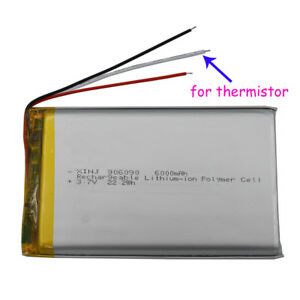 3-7V-6000-mAh-906090-Polymer-Li-Battery-3-wires-for-thermistor-For-PAD-Tablet-PC