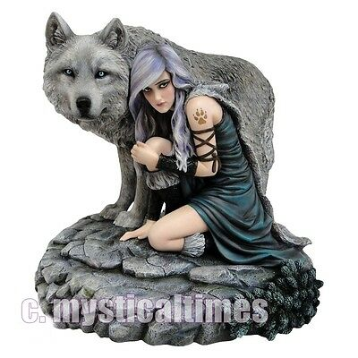 NEW * PROTECTOR * WOLF ANNE STOKES LARGER FIGURINE STATUE B0724C4 NEW FREE POST