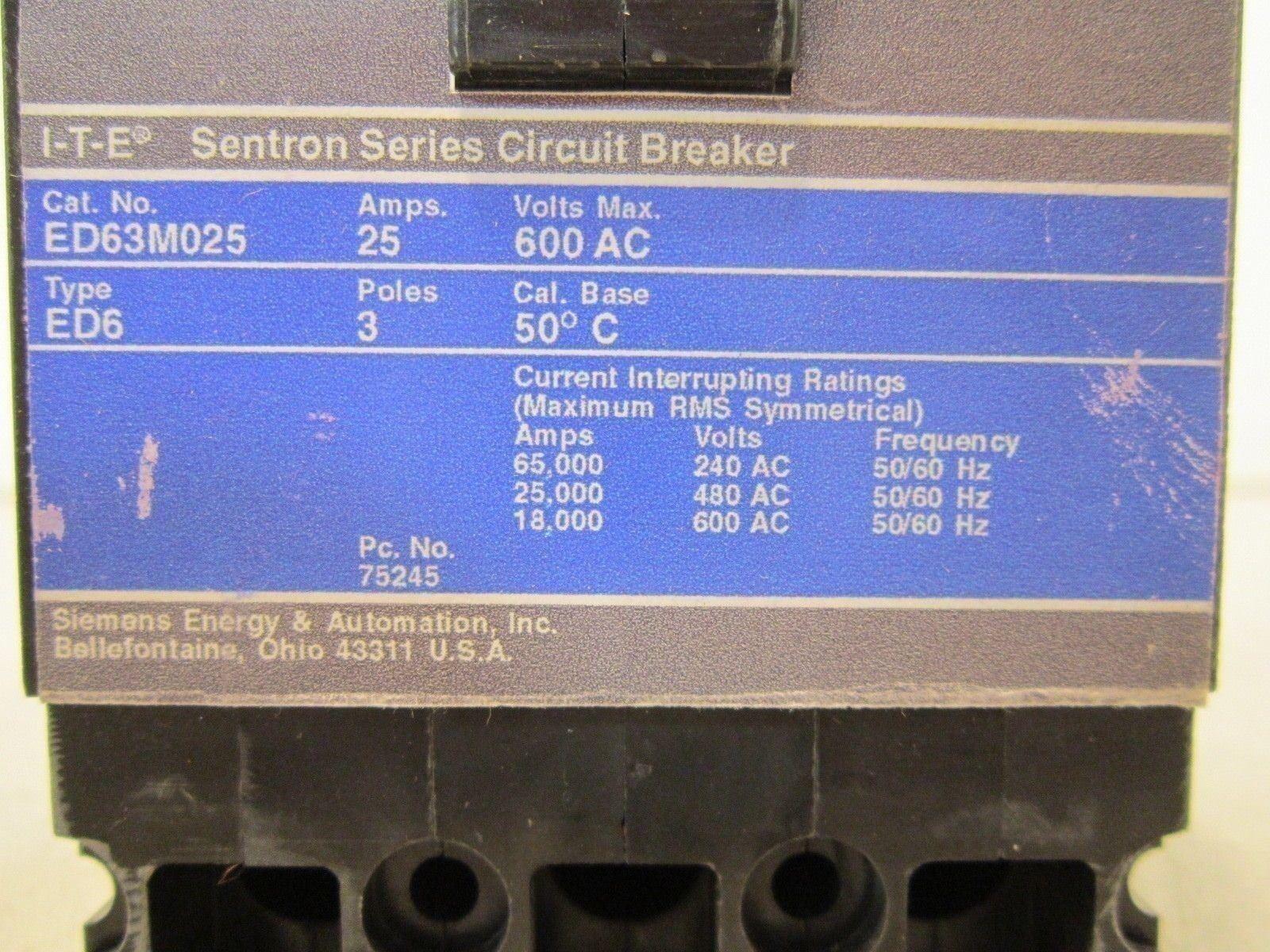 ED63M015 SIEMENS CIRCUIT BREAKER