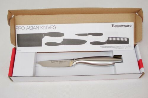 Tupperware Schälmesser Santoku-Messer Asiatisches Profi-Messer Gemüsemesser