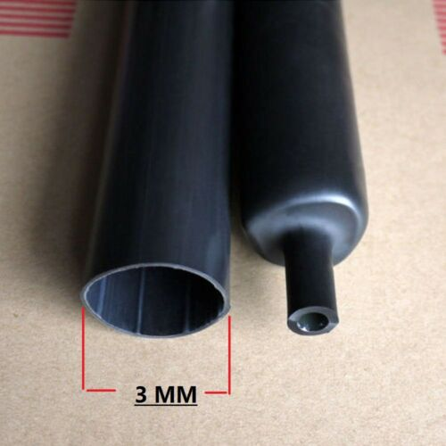 "BLACK 1//8/"" 3mm Polyolefin 2:1 Heat Shrink Tubing  600V High Quality 100 FT"