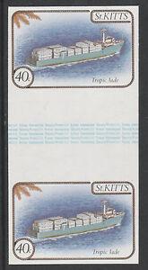 Modeste St Kitts 3334-1985 Navires 40c Imperfectif Gouttière Paire Démonté Menthe-afficher Le Titre D'origine Une Offre Abondante Et Une Livraison Rapide