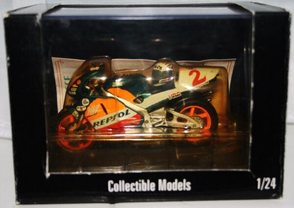 2019 DernièRe Conception Tadayuki Okada Repsol Honda Nsr500 1998 Avec Casque 1:24 Onyx