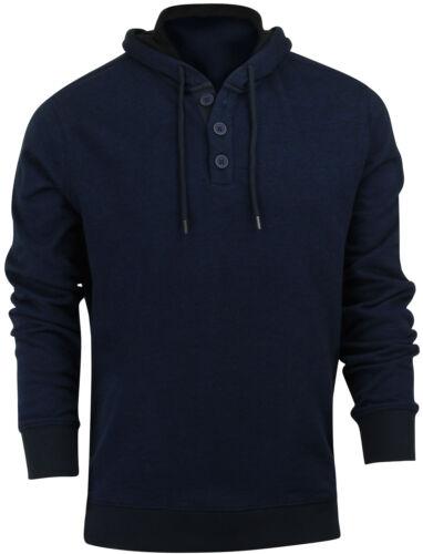 RVCA Mens Capo Twill Pullover Hoodie Midnight Blue