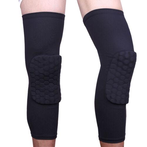 Honeycomb Pad Crashproof Antislip Basketball Leg Knee Long Sleeve Protector LN