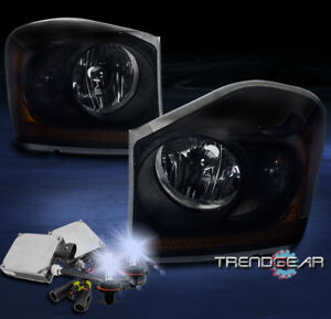 Image Is Loading 2004 2005 Dodge Durango Crystal Style Headlights Lamp