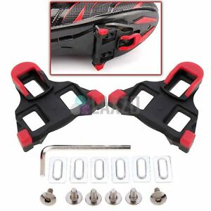 e9248bab8d6 2 PC Road Bike Bicycle Self-locking Pedal Cleats Set For Shimano SM ...