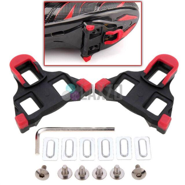 99f788bd49b 2pcs Bike Road Self-locking Pedal Cleats Set Red for Shimano Sm-sh11 ...
