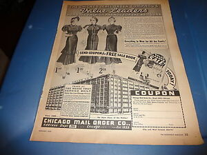 37736ee8d Image is loading 1937-The-Chicago-Mail-Order-Company-Vintage-Magazine-