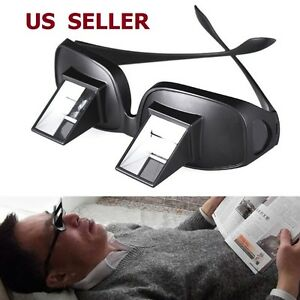 US-SHIP-Bed-Prism-Spectacles-Horizontal-Lazy-Glasses-90-Grad-For-Reading
