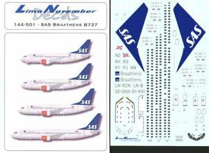 DéSintéRessé Lima November 1/144 Sas Braathens Boeing 737 #44501 Magasin En Ligne
