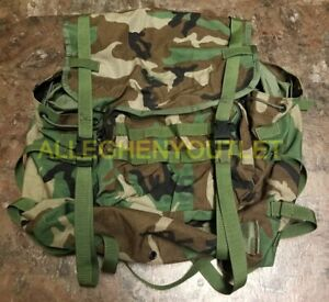 US Military Woodland Camo MOLLE II Rucksack Ruck MAIN PACK ONLY! Backpack VGC