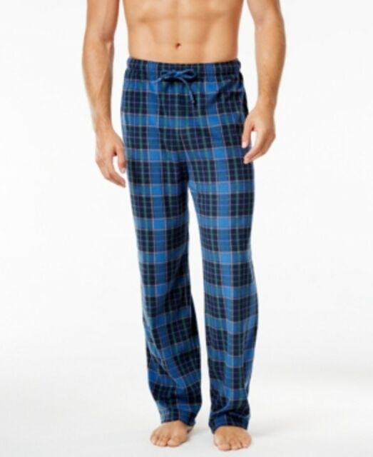 Club Room Fleece Checkered Patterned Pajama Pants Mens Size Medium Cool Mens Patterned Pants