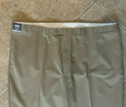 Roundtree /& Yorke TravelSmart Ultimate Comfort Pants 46 30 Flat Front Chino NWT