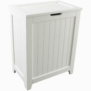 Image Is Loading White Laundry Hamper Dirty Clothes Basket Storage Bin