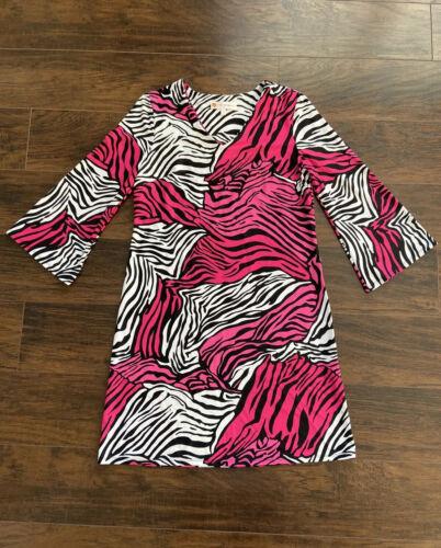 Jude Connaly pink black dress sz S Catalina cloth