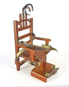 Dollhouse-Miniature-Prison-Electric-Chair-034-Old-Sparky-034-P6630