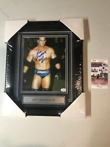 Ken-Shamrock-Autograph-Signed-8x10-Photo-Framed-WWE-UFC-JSA