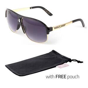 3 Pc 80s Men Women Aviator Retro Vintage Classic Fashion Sunglasses Black
