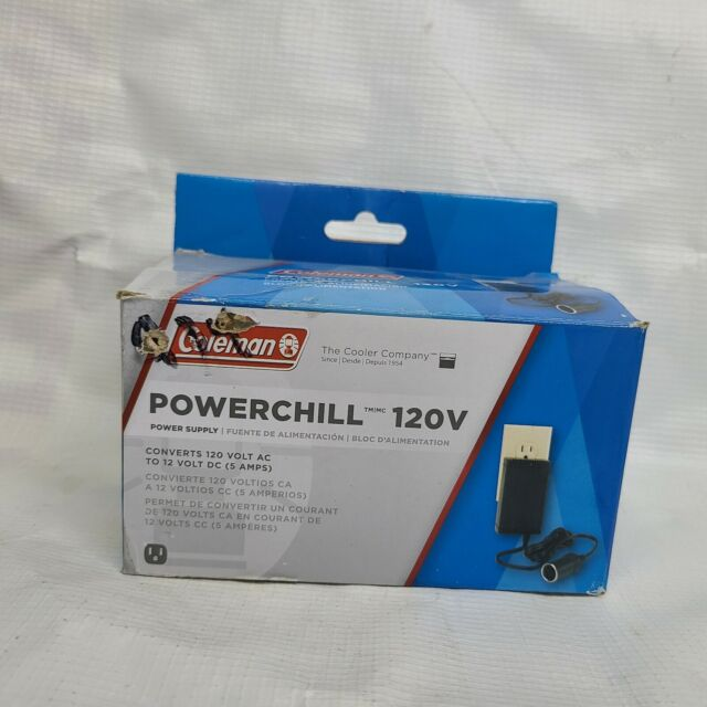 Coleman Powerchill Power Supply For Thermoelectric Coolers Converts 120V to 12V