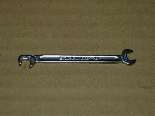 """Bw Doppelmaulschlüssel 3//16/"""" 82,5° Stahlwille 12 abgewinkelt Maulschlüssel inch"""