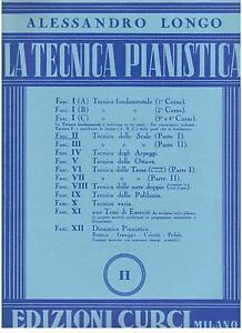 Alessandro Longo : die Technik Klavier II - Curci