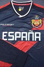 NWT Polo Ralph Lauren Men's UEFA 2016 Spain ESPANA Sport Black Jersey shirt S