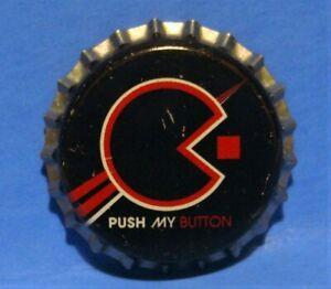 COCA COLA UNUSED BOTTLE CAP - RARE COKE 2005 SERIES - PACMAN PUSH MY BUTTON