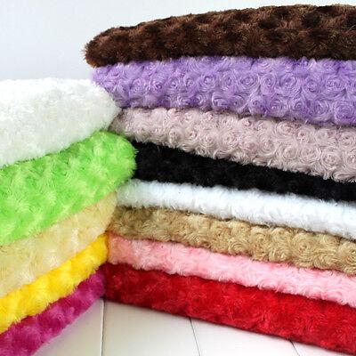 ROSE/ROSETTE SWIRL MINKY FABRIC ,Minky Rosebud, Minky plush  swirl fabric, BTY