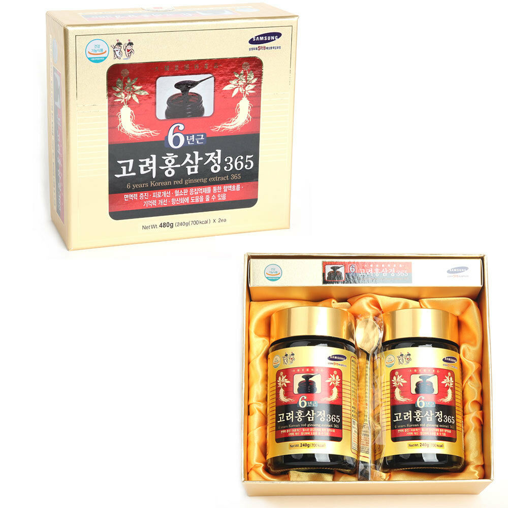 Korea 6 Years Old Red Ginseng Root Extract 365 Saponin, Panax 240g
