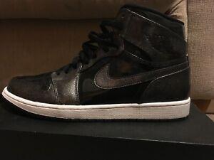 3122ba100d4 Nike Air Jordan 1 Retro High Black Anthracite 332550-017 Sz 13 ...