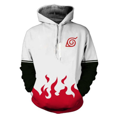 Naruto0 Hokage Ninjia Anime Hoodie Sweater Casual Pullovers Hooded Jacket 3D
