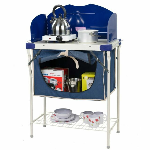 45 Easy Camping Recipes: Kingfisher Camping Kitchen Stove Unit With Pantry Storage