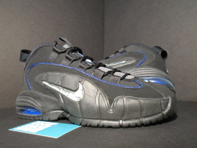 2014 NIKE AIR MAX PENNY ONE 1 BLACK WHITE ROYAL blueE SILVER 685153-001 NEW 8.5