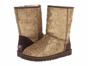 new ugg uggs australia women s classic short metallic leopard calf rh ebay com