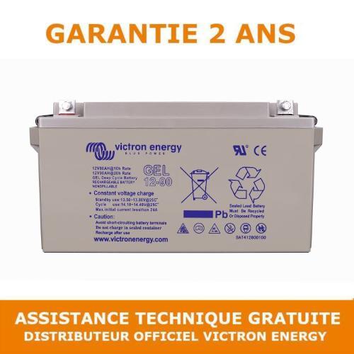 Victron Energy GEL Batterie de Loisirs à Décharge Lente 12V 90Ah - BAT412800104