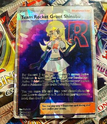 Orica Cosplay Card Full Art Trainer Team Rocket Grunt Shinobu Shatter Foil!