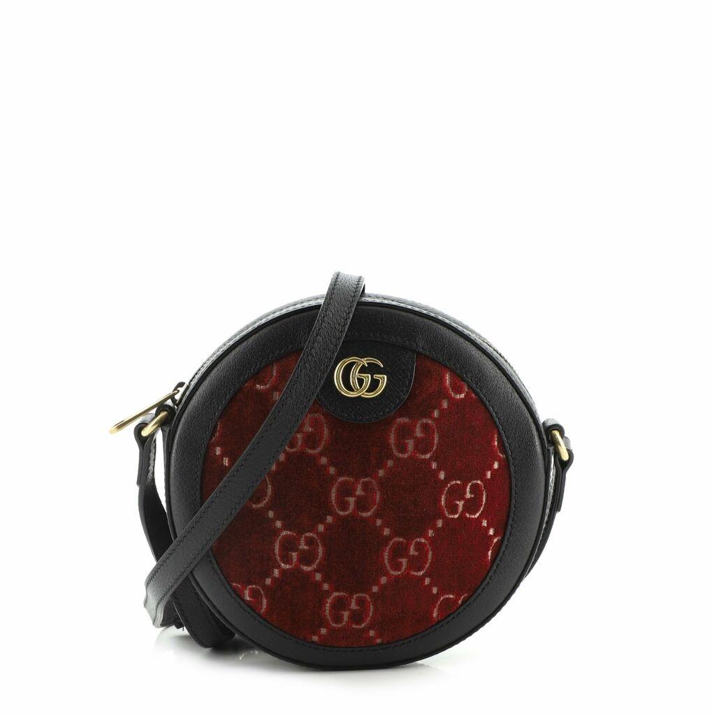 Gucci Ophidia Round Shoulder Bag GG Velvet Mini    eBay