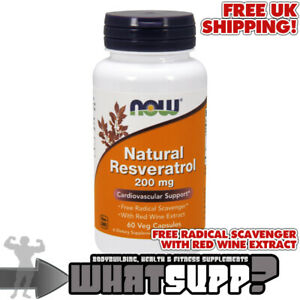 NOW-Foods-NATURAL-RESVERATROL-200mg-x-60-Veg-Caps-VEGAN-with-Red-Wine-Extract