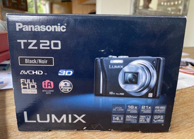 Panasonic Lumix DMC TZ20 14.1mp Leica Lens Digital Camera With GPS & Camera Case