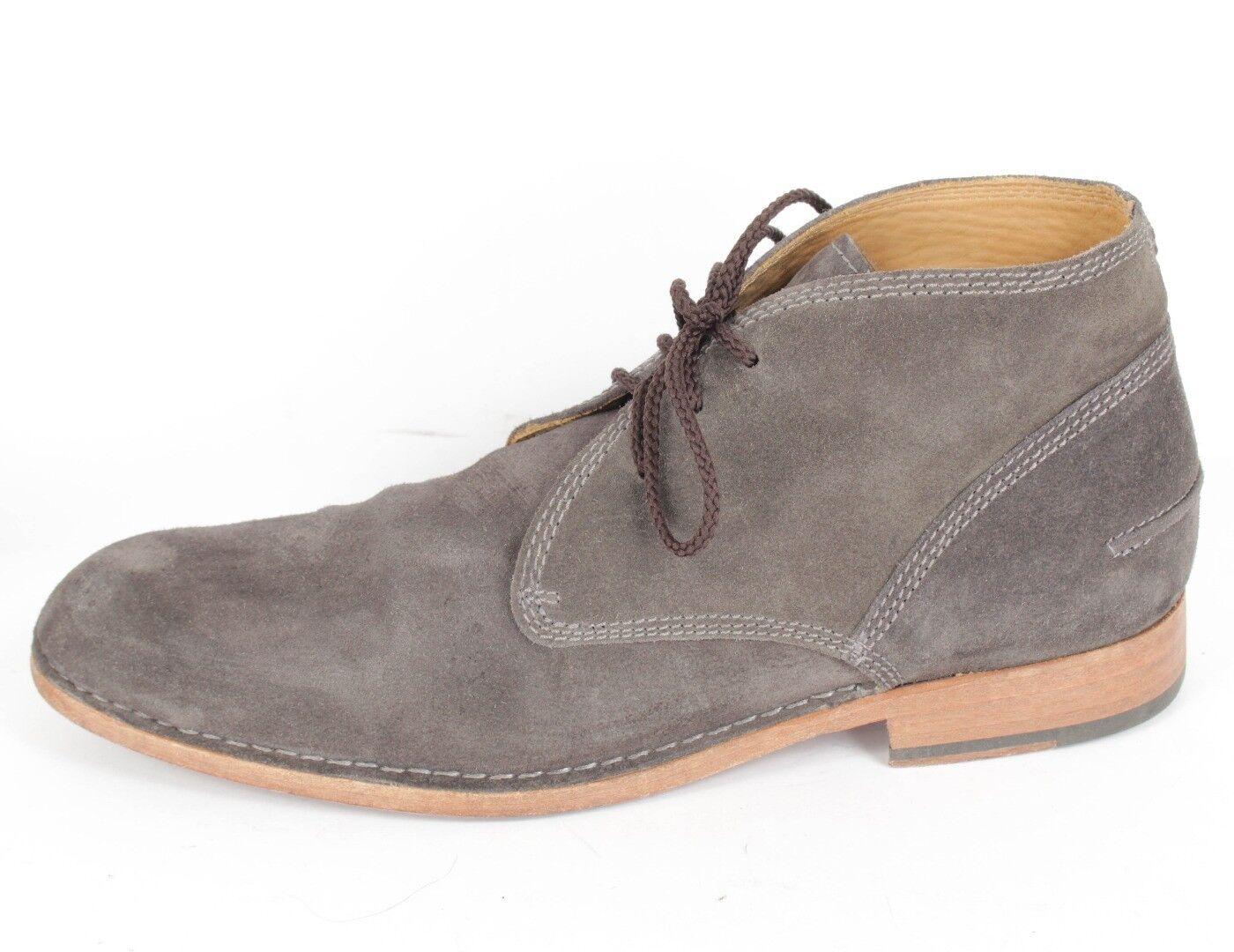 John Varvatos la línea principal gris gamuza tobillo botas Sz. 11