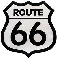 Route 66 Patch Embroidered Highway Road Sign Large Iron-on Historic Applique