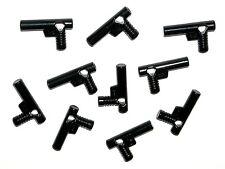 LEGO 10 GUNS Black Minifigure Pistols/Weapons/Hose Nozzles