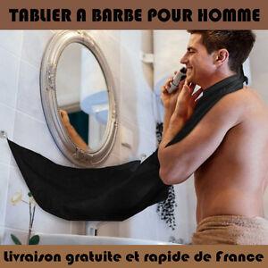 TABLIER A BARBE HOMME RASAGE PROPRE Etanche Bavette / ramasse Poil Cape Barbier