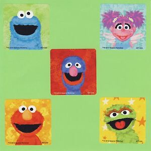 Details About 15 Sesame Street Chalk Large Stickers Elmo Grover Cookie Monster Oscar