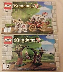 Lego-Kingdoms-Kings-Carriage-Ambush-7188-Instruction-Manual-Book-Only-2-Books