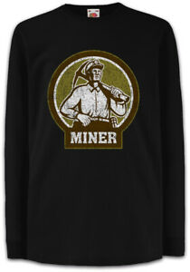 Miner-VII-Kinder-Langarm-T-Shirt-Mine-Minenarbeiter-Kumpel-Bergmann-Bergarbeiter